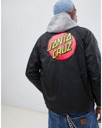 Santa Cruz - Classic Dot Coach Jacket In Black - Lyst