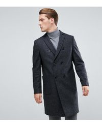 Heart & Dagger - Double Breasted Wool Mix Overcoat - Lyst