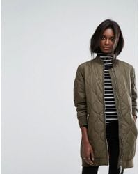 French Connection - Padded Longline Bomber Jacket - Lyst