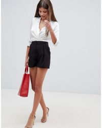 ASOS - Tailored A-line Shorts With Pleat Front - Lyst