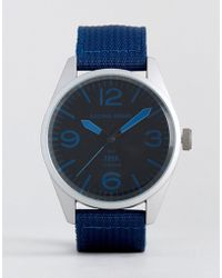 Racing Green - Nylon Strap Watch In Navy - Lyst