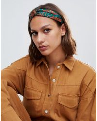ASOS - Twist Front Headband In Floral Print - Lyst