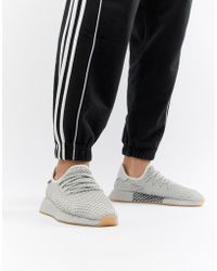 6c141d6d52a0b Lyst - adidas Originals Deerupt Runner Sneakers In Pink B28075 in ...