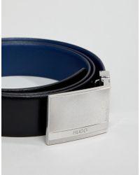 HUGO - Reversable Leather Belt Gift Box Set In Black/navy - Lyst