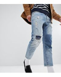 Just Junkies - Cropped Patch Jean - Lyst