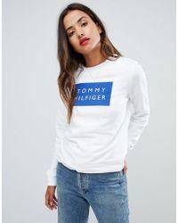 Tommy Hilfiger - Square Logo Sweatshirt - Lyst