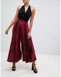 Club L - Pleat Detail Culottes - Lyst