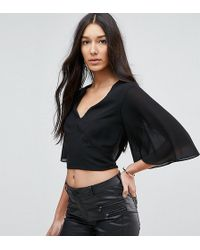 TFNC London - Plunge Front Top With Tie Back - Lyst