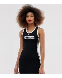 d7cd298517d36 Ellesse Relaxed Mini T-shirt Dress With Corset Detail Bralet Overlay ...