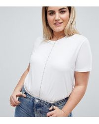 ASOS - Asos Design Curve Exclusive Geo Back Body Chain - Lyst
