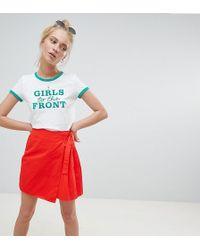 Daisy Street - Mini Skirt With Wrap Tie - Lyst
