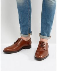 SELECTED - Oliver Derby Shoes In Brown - Lyst