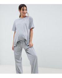 ASOS - Asos Design Maternity Mix & Match Pajama Jersey Pants - Lyst