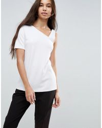 ASOS - Top In Ponte With Assymetric Tab Sleeve - Lyst