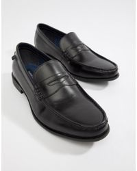 Farah - Jeans High Shine Leather Loafer - Lyst
