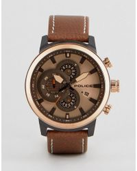 Police - Brown Watch With Brown Dial - Lyst