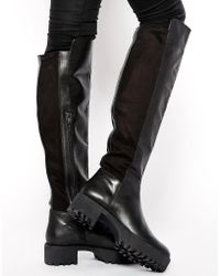 a97803a8265c ASOS - Asos Kidnap Leather Over The Knee High Boots - Lyst