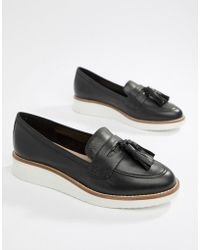 c908463edf8c ALDO - Leather Chunky Sole Tassel Loafers - Lyst