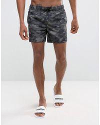 New Look - Swim Shorts In Camo Print - Lyst