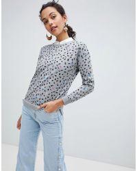 Esprit - Leopard Print Sweatshirt - Lyst