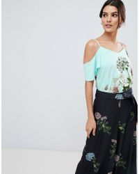 Oasis - Natural History Collection Cami In Placement Floral Print - Lyst
