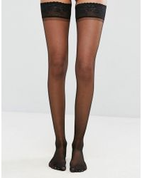 ASOS - 15 Denier Lace Top Hold Ups - Lyst