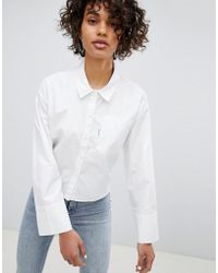 2752559af19be8 Lyst - Cheap Monday Asymmetrical Shirt in White