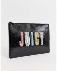 Juicy Couture - Glitter Logo Pouch - Lyst