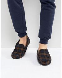 Dunlop - Check Slippers - Lyst