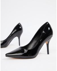 252ee36c829a Truffle Collection Tie Ankle 2part Point High Heels in Black - Lyst