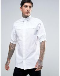 Rogues Of London - Skinny Cuff Sleeve Shirt - Lyst