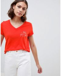 Ichi - Slogan T-shirt - Lyst