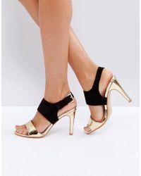 Little Mistress | Contrast Buckle Heeled Sandal | Lyst