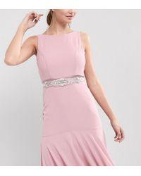 TFNC London | Wedding Slim Sash Belt With Delicate Embellishment | Lyst