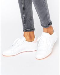 Reebok - Npc Ii Trainers With Pink Heel And Sole Detail - Lyst