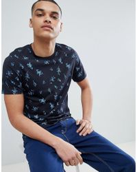 SELECTED - T-shirt With All Over Print - Lyst