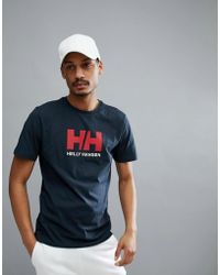 Helly Hansen - Logo T-shirt In Navy - Lyst