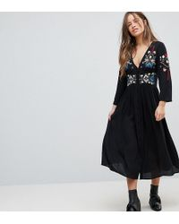 ASOS - Embroidered Maxi Dress - Lyst