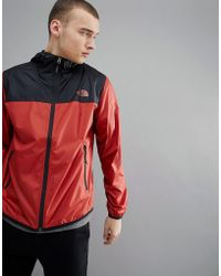 The North Face - Cyclone 2 Tone Hooded Jacket In Red - Lyst