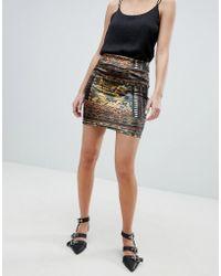 Oeuvre - Printed Mini Skirt - Lyst