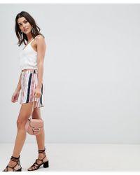 Vila - Bright Stripe Short - Lyst
