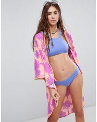 Maaji - Palm Printed Beach Kimono - Lyst