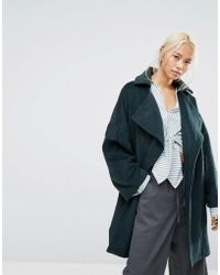 House Of Sunny - Oversized Wrap Coat With Zip Back Detail - Lyst