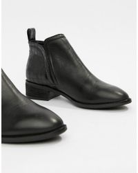 Office - Andreas Black Leather With Croc Chelsea Boot - Lyst