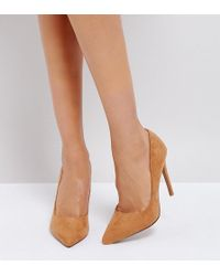 ASOS - Paris Pointed High Heeled Pumps In Almond - Lyst