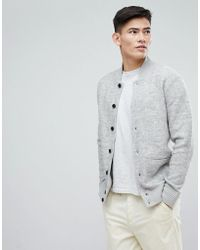 Esprit - Wool Bomber With Chunky Rib - Lyst