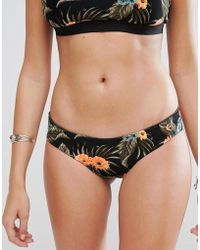 Rip Curl - Rip Curl Reversible Rose Print Mirage Surf Bikini Bottom - Lyst