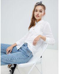 Pull&Bear - Pocket Front Shirt In White - Lyst