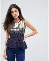 Zibi London - Top With Embellished Detail - Lyst