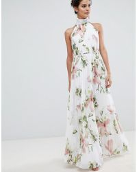 Ted Baker - Pleated Maxi Dress In Harmony Floral Print - Lyst